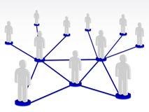 Gruppenperson im Netz Stockfoto