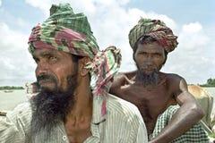 Gruppenporträt von lästigen bangladeschischen Bauern Lizenzfreie Stockfotos