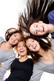 Gruppenportrait des Spaßes, glückliche Frauen Stockfotografie