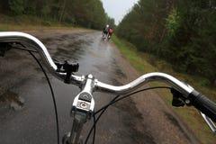 Gruppenradfahren Stockbild