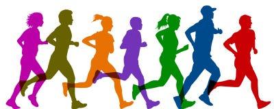 Gruppensportlerlauf - Vektor lizenzfreie abbildung