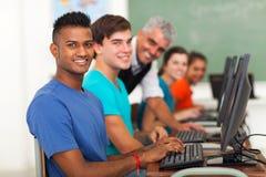 Gruppenstudentenlehrer Stockfotografie