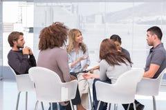 Gruppentherapiesitzung Lizenzfreies Stockfoto