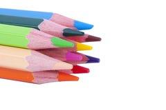 Grupper av färgpennan Royaltyfri Fotografi