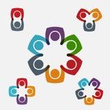 Grupper av färgrikt folk Royaltyfri Fotografi