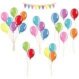 Grupper grupper av heliumballonger Royaltyfri Bild