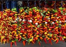 Grupper av peppar Arkivfoton
