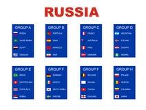 Grupper för fotbollvärldsmästerskap vektor illustrationer