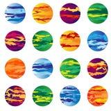 Gruppera av planetabstrakt begrepp Arkivbild
