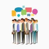 Gruppera begreppet för folkaffärsmötet och för affärskommunikationen vektor illustrationer