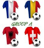 Gruppera en europeisk fotboll 2016 Royaltyfri Fotografi