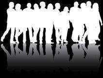gruppera folk Arkivfoto