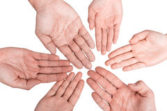 gruppera händer vektor illustrationer