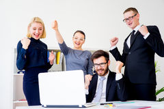 gruppera kontorsarbetare Arkivfoton