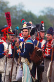 Gruppera ståenden av män i militär likformig för tappning Arkivfoto
