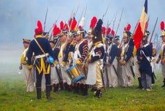 Gruppera ståenden av män i militär likformig för tappning Royaltyfri Fotografi