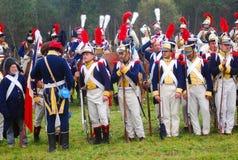 Gruppera ståenden av män i militär likformig för tappning Fotografering för Bildbyråer