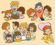 grupperar folk royaltyfri illustrationer