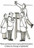 Gruppförsök stock illustrationer