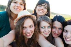 Gruppfotografi Arkivfoto