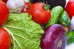 gruppgrönsaker Arkivfoto