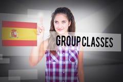 Gruppgrupper mot abstrakt vitt rum Fotografering för Bildbyråer