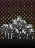 grupphänder Arkivbilder
