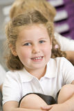 grupphuvudschoolgirlsitting Royaltyfria Bilder