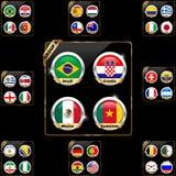 Gruppi del gruppo di campionato 2014 di calcio royalty illustrazione gratis