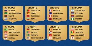 Gruppi della coppa del Mondo di calcio Fotografia Stock Libera da Diritti