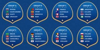 Gruppi della coppa del Mondo di calcio Fotografia Stock