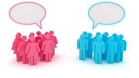 Gruppi di chiacchierata Immagine Stock Libera da Diritti
