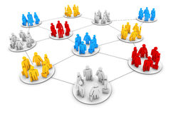 Gruppi di lavoro di affari Immagini Stock Libere da Diritti