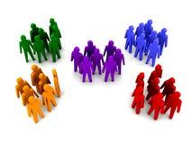 Gruppi di persone differenti. illustrazione di stock