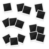 6 gruppi di retro polaroid in bianco delle strutture su un fondo bianco Immagine Stock