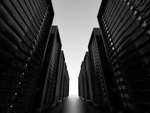 Gruppi di terminali di server del centro dati Fotografia Stock Libera da Diritti