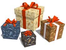 Gruppieren Sie Geschenke mit tropischem botanischem Blattmuster für Geburtstag stock abbildung