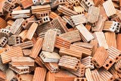 Gruppieren Sie viele von Ziegelsteinen für Bau in Thailand Lizenzfreies Stockfoto