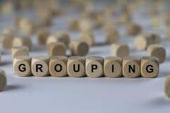 GRUPPIERUNG - UNORDNUNG - Bild mit den Wörtern verbunden mit dem Thema EXTREMISMUS, Wort, Bild, Illustration lizenzfreie stockbilder