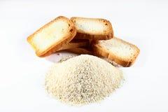 Gruppkexar och brödsmulor Arkivbild