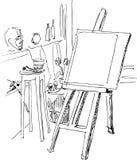 gruppmålning Vektor Illustrationer