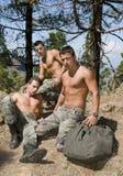 gruppmanmilitären kriger Arkivfoto