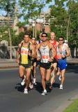 gruppmaratonmän Arkivfoto