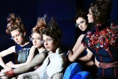 gruppmodeller Fotografering för Bildbyråer