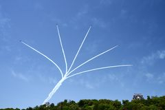Gruppo acrobatici dell'aeronautica Immagini Stock Libere da Diritti