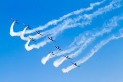 Gruppo acrobatici sul airshow fotografia stock libera da diritti