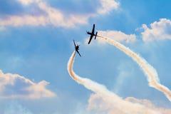 Gruppo acrobatici sul airshow fotografie stock libere da diritti
