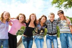 Gruppo adolescente Fotografia Stock Libera da Diritti