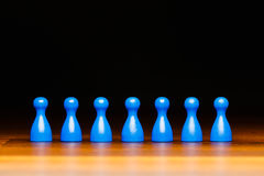Gruppo, affare, organizzazione, blu ed il nero di concetto Fotografia Stock