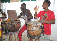 GRUPPO AFRICANO DI ARTE Immagini Stock Libere da Diritti